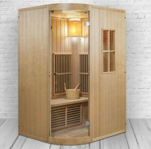 XXL Luxus Infrarotsauna +Infrarotkabine Kombi SET Sauna inkl. Saunaofen 2 Pers.