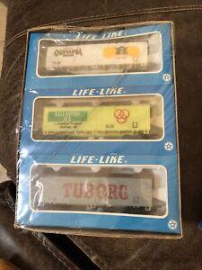Life Like HO scale 6 Pack Brewery Reefer Cars, NIB, Sealed 8552 Train Car Beer
