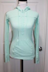 Lululemon Star Runner 1/2 Zip Pullover Hoodie Jacket Women's Size 2 Mint Green