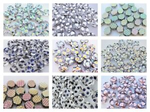 CHOOSE COLOR! 24 pcs Pressed Glass Beads Oval 8x7 mm, Czech Glass