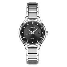 *BRAND NEW* Seiko Women's Diamond Accent Silver Stainless Steel Watch SUT317