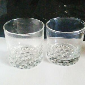 """2 Libbey Glass Co. 3 1/2"""" Nob Hill 7 3/4 oz. Old Fashioned Whiskey Glasses"""