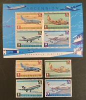 Ascension. Wideawake Airfield & MS. SG187/90. 1975. MNH. (MSC206)