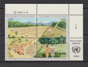s10764) UNITED NATIONS (GENEVE) MNH** 1986, Development program 4v [+] + LAB