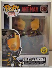 Funko Pop Yellowjacket Glow in The Dark # 86 Marvel Ant-Man Bobble Head New
