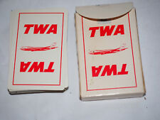 VintageTWA AIRLINES PLAYING CARDS Standard size in original box