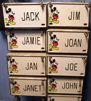 ** Vintage (NEW) - DISNEY - Door Name Plate - License Plate * J - L * pick ONE!
