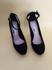 New Look Damas Negro Imitación Platform Court Shoe Reino Unido 4