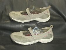 Merrell gray mesh fabric w/suede trim mary janes pumps Women's shoes size US 7.5