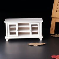 1/12 Scale Dolls House Miniatures Wooden Furniture Room TV Cabinet Accesso Decor
