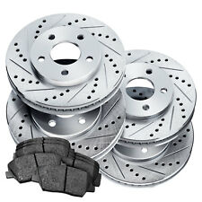 [COMPLETE KIT]PowerSport Drilled Slotted Rotors and Ceramic Pads BLCC.47048.02