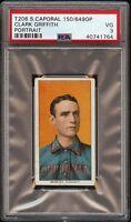 Rare 1909-11 T206 HOF Clark Griffith Portrait Sweet Caporal 150 PSA 3 VG
