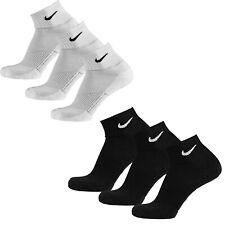 Nike Cushion Quarter 3er Pack Herren Strümpfe - Weiß/Schwarz, Größe M