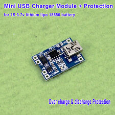 5V Mini USB Li-ion 18650 Lithium Battery Charger Charging Board 4.2V Protection