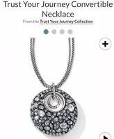 BRIGHTON Trust Your Journey Convertible Necklace Swarovski Blue Crystals NWT