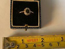vintage 9ct  gold sapphire & diamond ring size 0 us 7