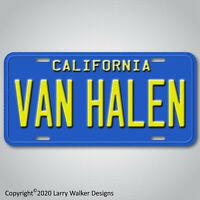 Van Halen Blue California Aluminum License Plate Tag New