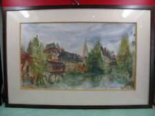 Chatres, aquarelle oeuvre du verrier P. Millous Chartres, 77, chambre d'hôte