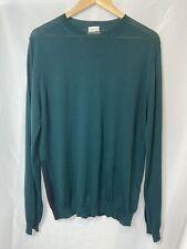 Paul Smith Jumper Size XL Merino Wool & Silk Fine Knit Made in Italy Green