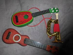 Musikinstrumente für Kinder, Gitarre, Ukulele, Trompete, Spielzeug aus Plastik