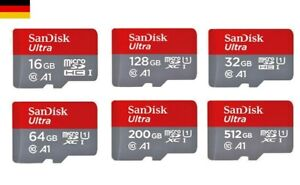SanDisk Ultra 16GB, 32GB, 64GB, 128GB microSD Speicherkarte Memory Card CLASS 10