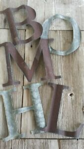 Large Reclaimed Barn Tin Letters (Purchase 3 Or More for Free Shipping)