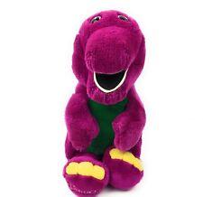 Vintage 1992 The Lyons Group 13 Inch Purple/Green Barney Plush Stuffed Animal