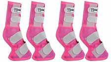 Cashel Crusader Horse Size PINK Front Rear LEG GUARDS Mesh Boots Fly Control
