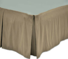 "Microfiber Twin Bed Skirt - 16"" Drop - Camel (Tan)"