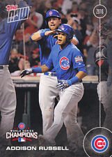 2016 TOPPS NOW WS-6 Addison Russell CHICAGO CUBS World Series Champion SET Break