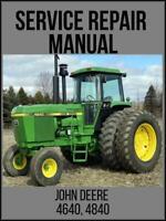 John Deere 4640 4840 Tractor Service Technical Manual TM1183 USB