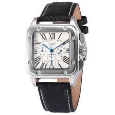 JARAGAR Mens Analog Automatic self wind Day Date Leather Band Wrist Watch K H6E0