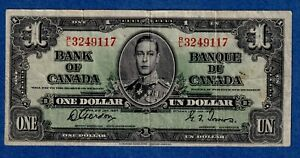 CANADA $1 (1937) BC-21c Circulated Note ** R/L 3249117 **  ✹CN 0014✹