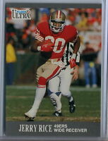 1991 FLEER ULTRA #254 JERRY RICE San Francisco 49ers NFL Football CARD