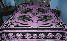 New Tie Dye Batic Double Bedspread Throw - Hippy Fairly Traded India Elephant