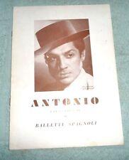 ANTONIO E LA SUA COMPAGNIA DI BALLETTI SPAGNOLI ROSITA SEGOVIA TEATRO 1955