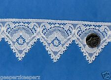 "English Cotton Leavers Lace Trim WHITE 2 3/8"" Dolls/ Smocking/ Bears  NEW BTY"