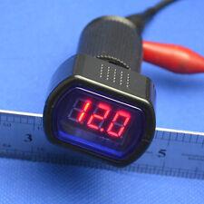DC 8-30V 12V 24V car plug in voltage detector voltmeter Red displayer