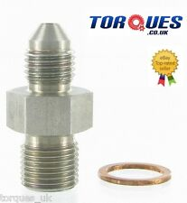 AN-3 (3AN) To M11x1.0 Garrett Turbo 1mm Restricted Oil Feed Stainless Adapter