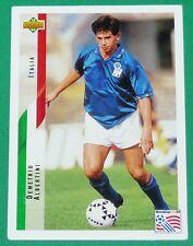 RARE FOOTBALL CARD UPPER DECK 1994 USA 94 DEMETRIO ALBERTINI ITALIA ITALIE