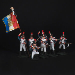 Tin soldier, Set of France Linear Infantry Grenadiers (7 miniatures) 54 mm