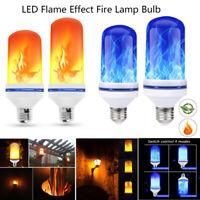 E27 LED Licht Fackel Feuer Lampe Flammen Effekt Glühbirne Flacker Birne DE