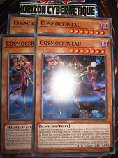 YU-GI-OH! COM PLAYSET COSMOCERVEAU (LOT DE 4) CYHO-FR020 NEUF EDITION 1