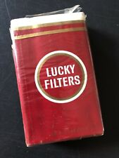 Vintage Lucky Filters EMPTY Cigarette Pack American Tobacco