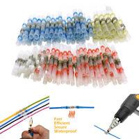 100PCs Waterproof Solder Sleeve Heat Shrink Butt 26-10 AWG Wire Splice Connector