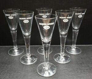 Aalborg Jubilæums Akvavit Cordial Danish Shot Glasses  - EXCELLENT!!  Set of 6!!