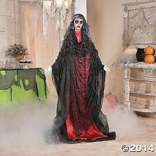 Gypsy Lady Black & Red With Flashing Eyes Spooky Scary Halloween Prop NEW