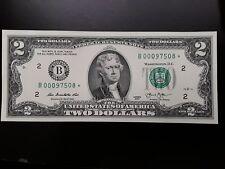 2013 CU $2 STAR + LOW Serial Number Note