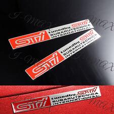 X2 Subaru STI Car Fender Hood Sides Sticker Badge Decal Emblem Impreza GDB WRX