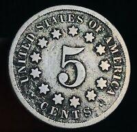 1869 Shield Nickel 5 Cents 5C High Grade Civil War Era Good Date US Coin CC5664
